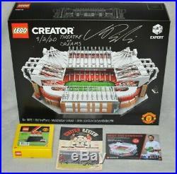 SIGNED LEGO CREATOR 10272 Old Trafford Manchester United + TRINITY + EXTRAS
