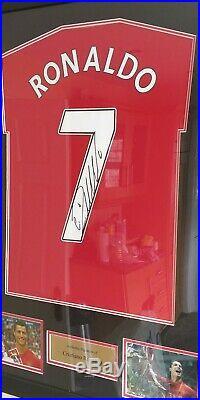Signed Cristiano Ronaldo Manchester United shirt