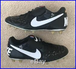 Signed Eric Cantona Nike Tiempo Boots Manchester United