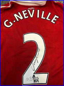 Signed Gary Neville Manchester United Shirt PRIVATE SIGNING With PROOF