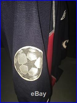 Signed Jaap Stam Retro Manchester United Umbro Away Shirt Champions League