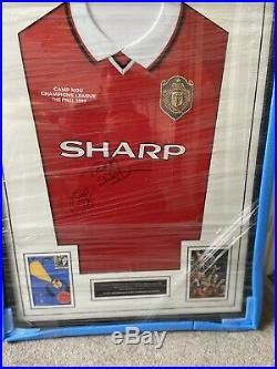 Signed Manchester United 99 Champions League Final Shirt