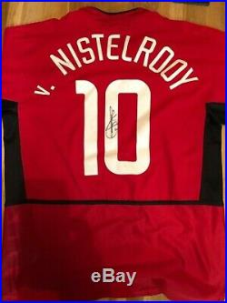 Signed Manchester United Shirt Van Nistelrooys top from his last game