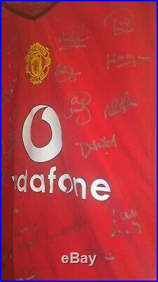 Signed Manchester United Team Shirt