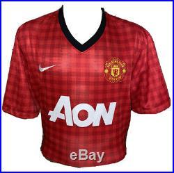 Signed Paul Scholes Rare 22 Manchester United Home Shirt England