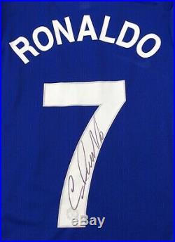 Signed Player Issue Cristiano Ronaldo Manchester United Shirt Watertight COA