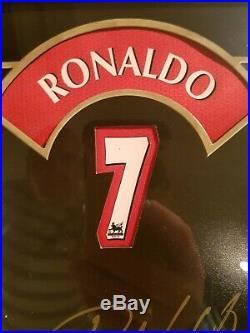 Signed Ronaldo / Rooney & Park Manchester United Framed Tributes Ltd Editions