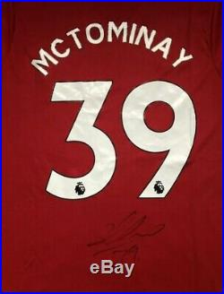 Signed Scott Mctominay- MANCHESTER UNITED SHIRT 19/20 Scotland PROOF Man Utd