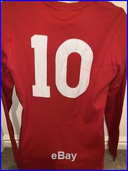 Signed Sir Bobby Charlton England 1966 Retro World Cup Shirt Manchester United 2
