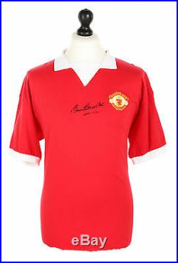 Sir Bobby Charlton Signed Manchester United 1970s Shirt Autograph Jersey + COA