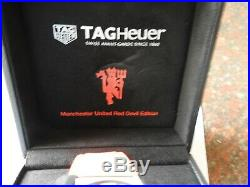 TAG Heuer Carrera CAR2A1J. FC6416 MANCHESTER UNITED Spec Ed RED DEVIL SIGNED BOX