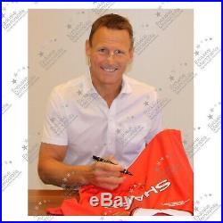 Teddy Sheringham Ole Gunnar Solskjaer Signed Manchester United Football Shirt