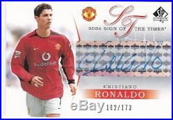 UD Manchester United Sign of the times 2004 auto of Cristiano Ronaldo 162/173