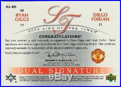 Upper Deck Ryan Giggs Diego Forlan SIGN 99 autograph cards MANCHESTER UNITED