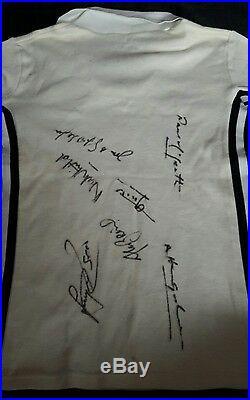 Vintage 1980 Manchester United Shirt Multi Signed Utd/spurs Uefa Cup 1984