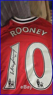 Wayne Rooney Hand Signed Manchester United Shirt
