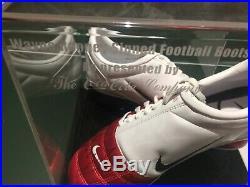 Wayne Rooney Manchester United Football Boots Signed Man Utd England COA Coke