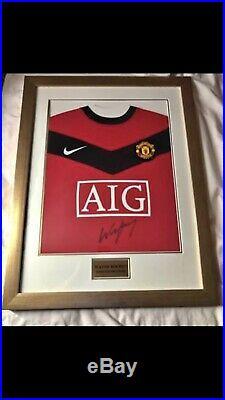 Wayne Rooney Signed Manchester United Shirt With COA