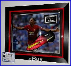 Zlatan Ibrahimovic of Manchester United Signed BOOT AUTOGRAPH Display