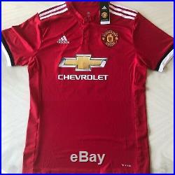 Zlatan Ibrahimovic signed Manchester United Adidas Soccer Jersey JSA COA D16